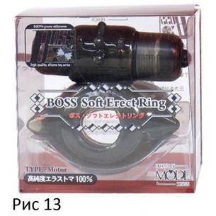 """Эрекционное виброкольцо """"Boss Erect Ring Motor"""""""