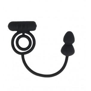 """Кольцо с анальным плагом """"Baibur S size"""""""