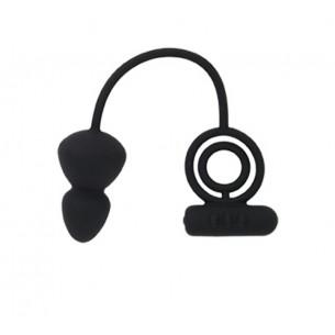 """Кольцо с анальным плагом """"Baibur M size"""""""