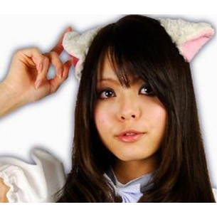 """Кошачьи ушки белые """"Fluffy Cat Ears White"""""""