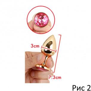 """Пробка с кристаллом """"Goru Jewelry Plug S"""""""
